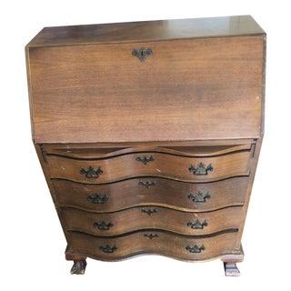 1930s Traditional Drop Down Secretary Desk