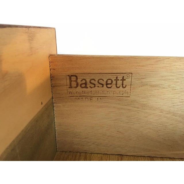 Wood Bassett Hollywood Regency Asian Chinoiserie 9 Drawer Dresser For Sale - Image 7 of 7
