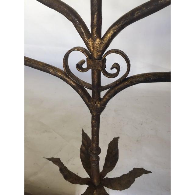 Vintage Gold Gilt Metal Candelabra Five-Light Floor Lamp For Sale - Image 4 of 11
