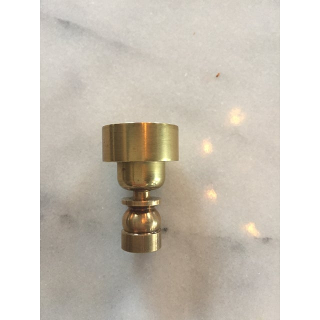 Metal Classic Brass Hansen Wall Sconces - a Pair For Sale - Image 7 of 10