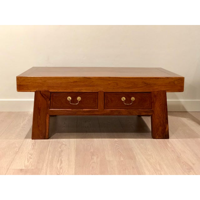 Chinese Huanghuali Rosewood Coffee Table For Sale - Image 4 of 11