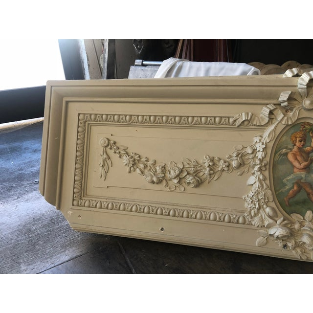French Cherub Plaster Relief For Sale - Image 3 of 13