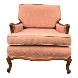 Mid-Century Modern Pink Upholstered Lounge Chair For Sale