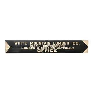Vintage Hand Painted Lumber Yard Sign