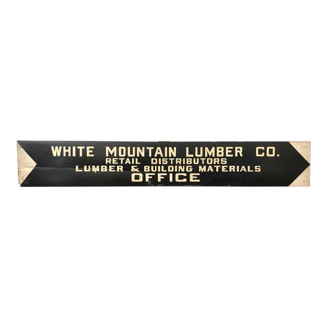 Vintage Hand Painted Lumber Yard Sign For Sale