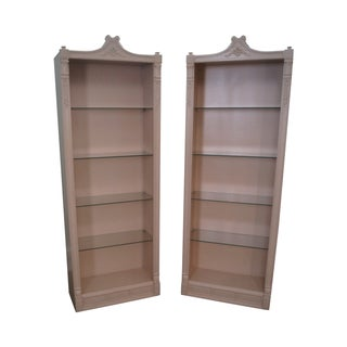 Custom Painted French Louis XV Bookcases - A Pair