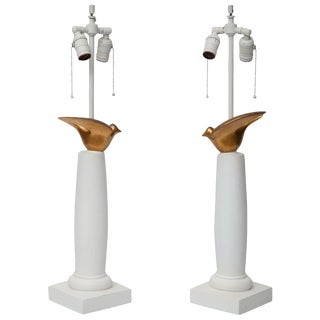 Sirmos Dove Lamps - a Pair For Sale