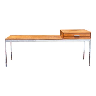 20th Century Danish Modern Rosewood and Chrome Entryway Table/Bench For Sale