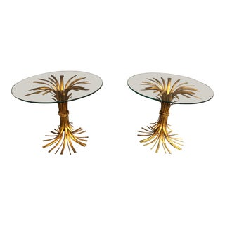 1960s Vintage Hollywood Regency Coco Channel Style End Tables -Pair For Sale