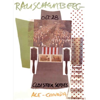 1981 Ace Gallery Exhibition Poster by Robert Rauschenberg For Sale