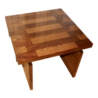 1970s Lane Brutalist Parquetry Coffee Table For Sale