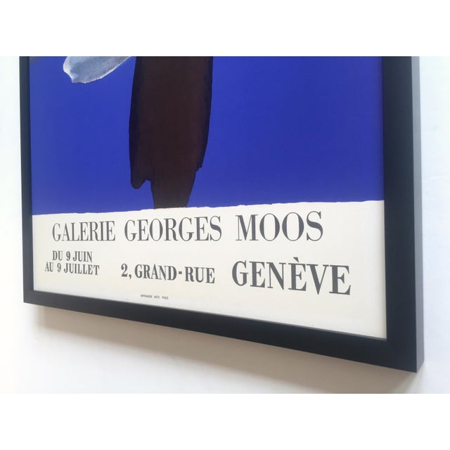 Fernand Dubuis Rare Vintage 1966 Mid Century Modern French Silkscreen Print Framed Abstract Expressionist Exhibition Poster For Sale - Image 12 of 13