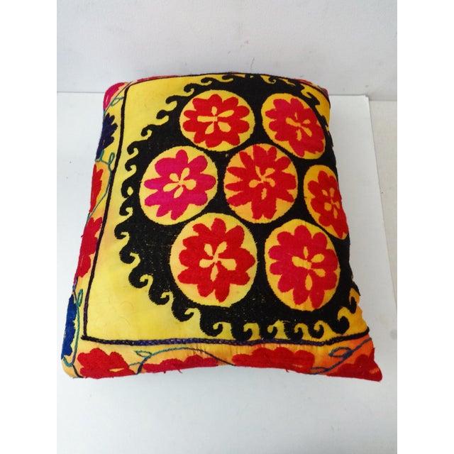 Vintage Uzbek Suzani Pillow - Image 6 of 8