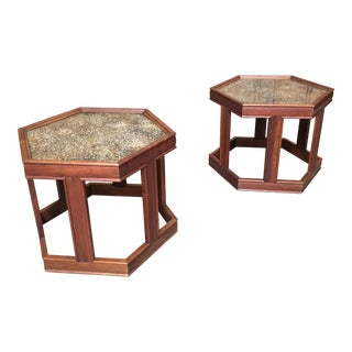 John Keal for Brown Saltman End Tables - a Pair For Sale