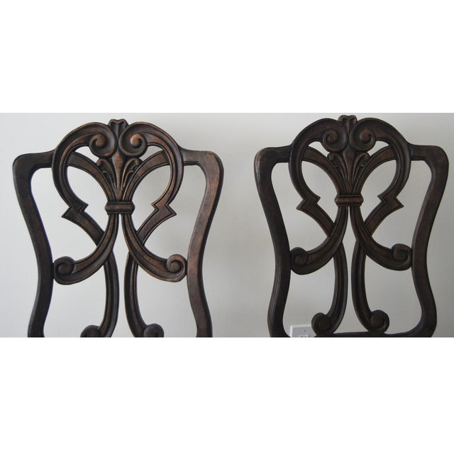 A Pair of French Style Wood Back Side Chairs - Image 7 of 11