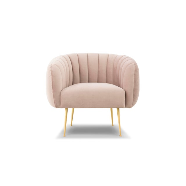 Pink Taylor Accent Chair For Sale - Image 4 of 7