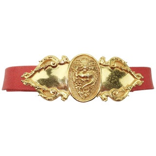 Vintage Accessocraft Nyc Ornate Dragon Belt For Sale
