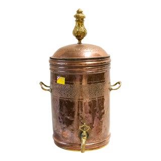 Late 19th Century Dutch Copper Beverage Dispenser For Sale