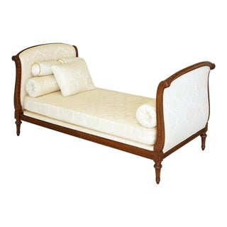 Classical Upholstered Mahogany Daybed For Sale