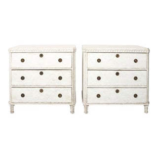 Late 19th Century Painted Gustavian Chests of Drawers - a Pair For Sale