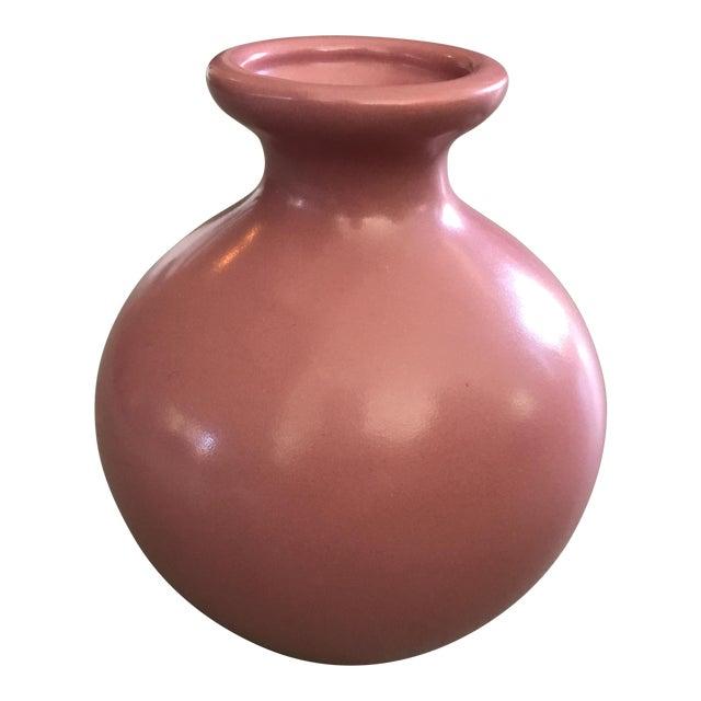 Hager Mauve Bulbous Vase For Sale