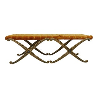 1970s Vintage Alibaba Double Cross Sword Bench For Sale