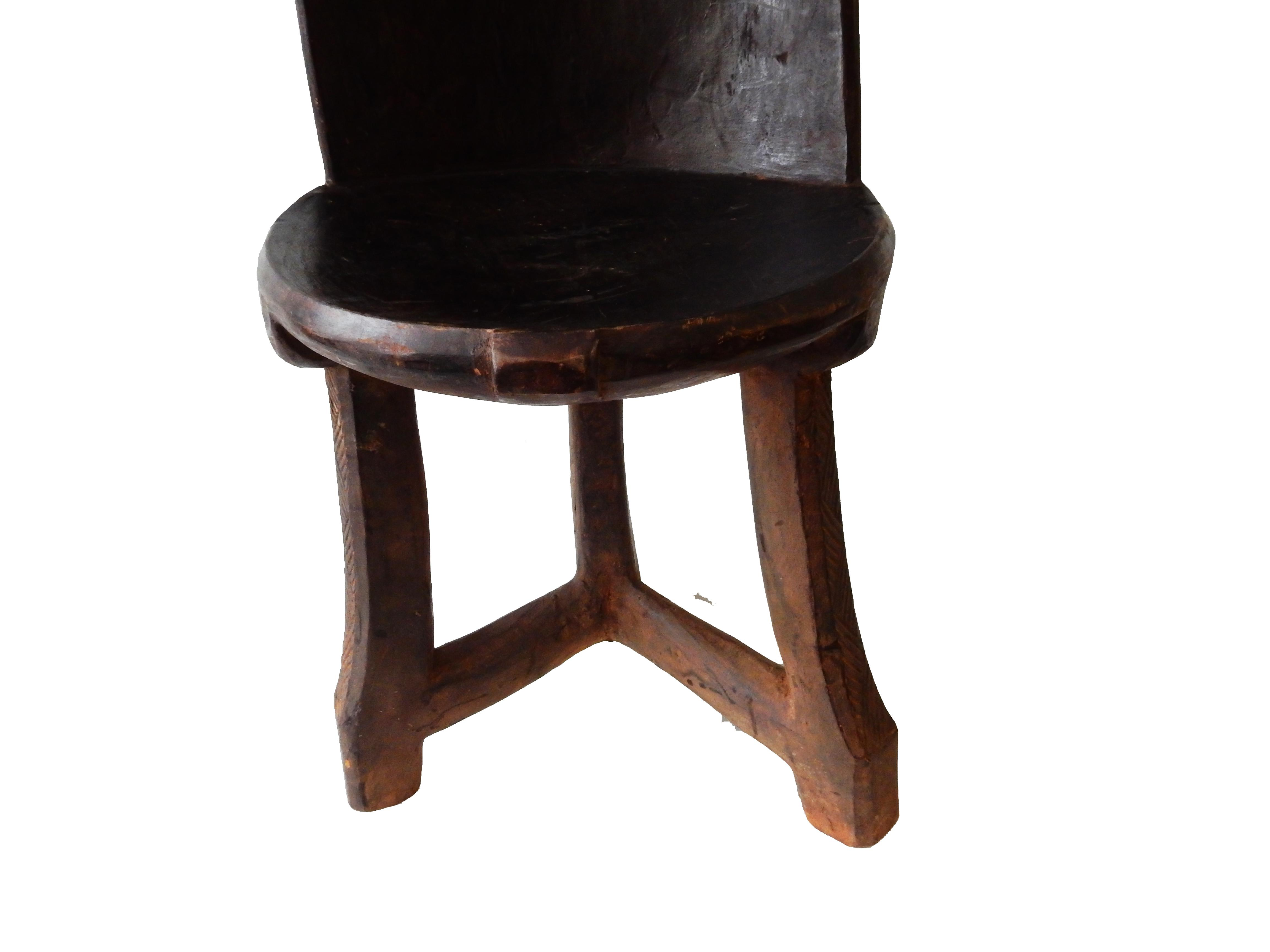 African 3 Legged Makonde Chair   Image 7 Of 8