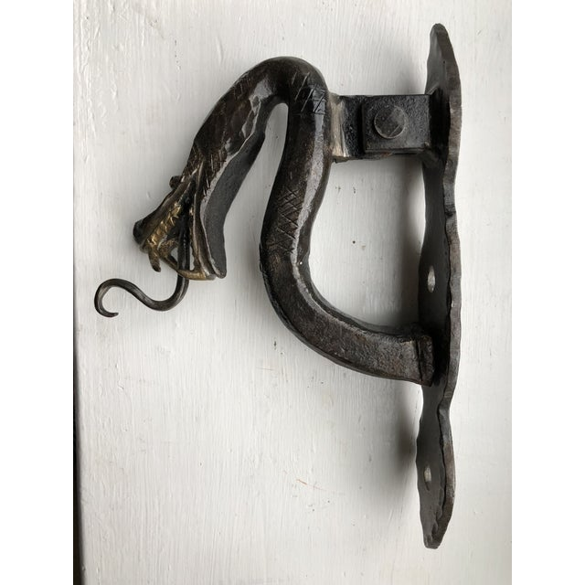 Late 20th Century Iron Serpent Door Knocker For Sale - Image 5 of 9