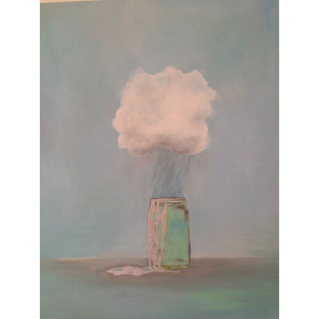 "2010s ""Rain Catcher"" Oil Painting by Natalie Mitchell For Sale - Image 5 of 6"