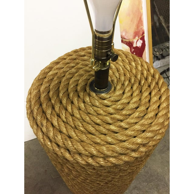 Oversized Rope Base Table Lamp For Sale - Image 4 of 6