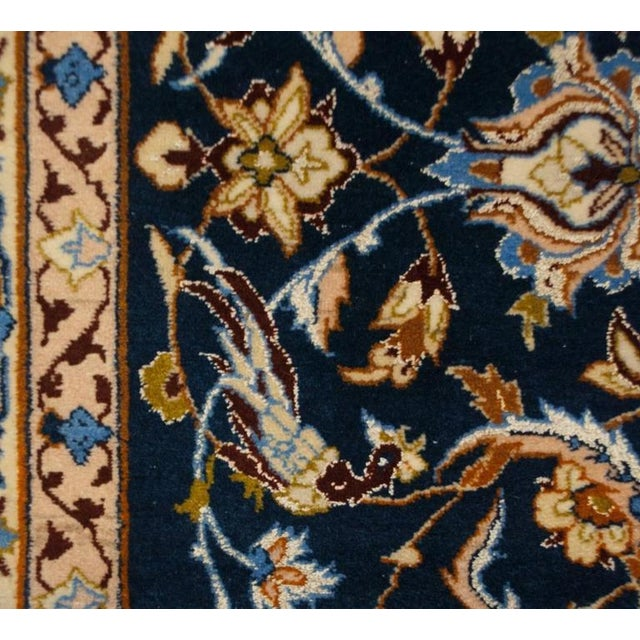 1940s Whimsical Early 20th Century Isfahan Rug - 5′1″ × 7′7″ For Sale - Image 5 of 7