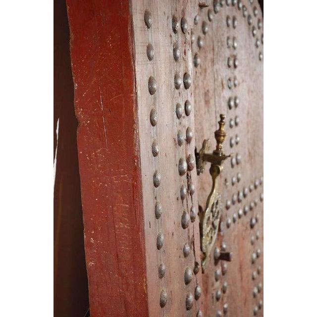 Iron Moroccan Ryad Studded Moorish Antique Door For Sale - Image 7 of 8 - Luxury Moroccan Ryad Studded Moorish Antique Door DECASO