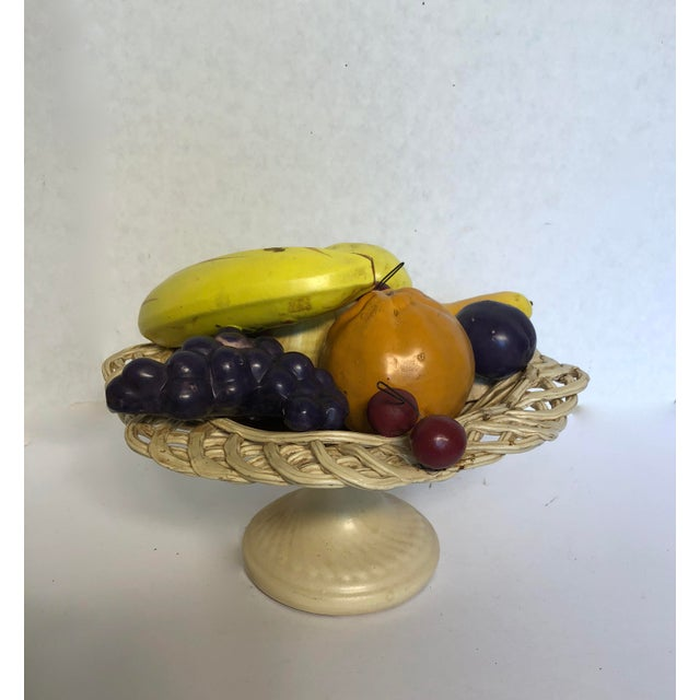 1980s Traditional Italian Porcelain Fruit Topiary/Basket For Sale - Image 11 of 11
