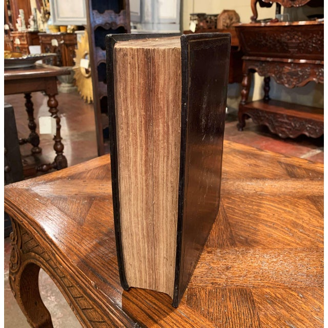"""19th Century English """"Life of Christ"""" Black Leather Bound Book With Gilt Dated 1857 For Sale In Dallas - Image 6 of 9"""