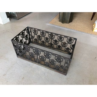 Art Deco Iron Flower Box Planter With Extra Elements Preview