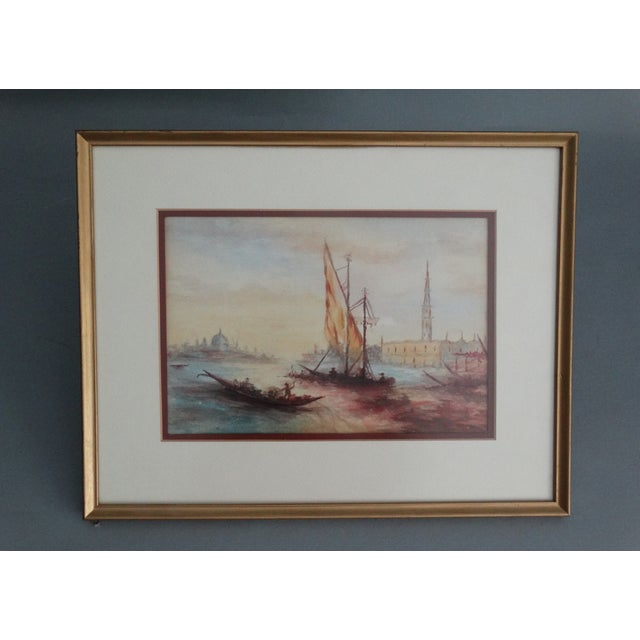 Impressionism Seascape Painting, the Grand Canal, Venice - Image 6 of 6