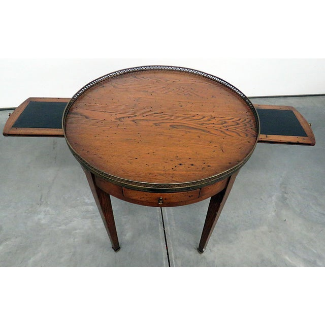 Metal Antique Louis XIV Style Bouillotte Table For Sale - Image 7 of 10