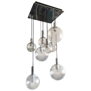 Raak Chandelier Lamp Ceiling Fixture With Chrome Ceiling Mount For Sale