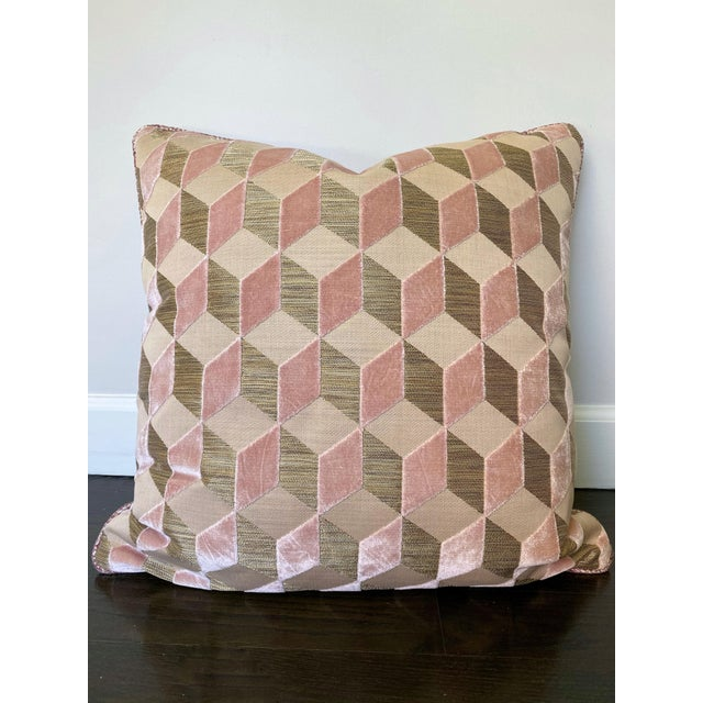 Manuel Canovas Vallauris Rose Pillow For Sale In Los Angeles - Image 6 of 6