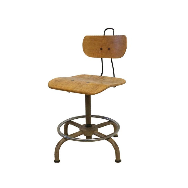 Industrial 1930s Science Lab Chair, Vintage Office Seating For Sale - Image 3 of 4