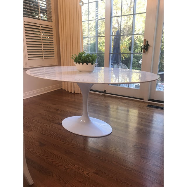 France & Son Mid-Century Modern France and Son Tulip Oval Dining Table For Sale - Image 4 of 6