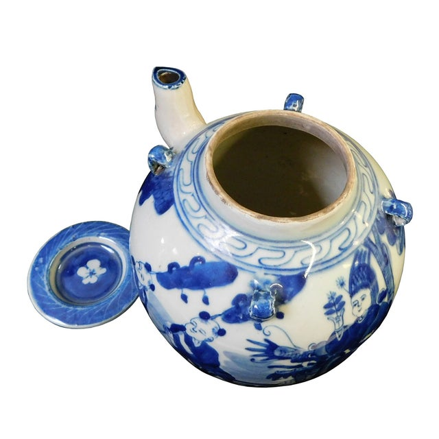 Chinese Blue & White Porcelain Kirin Teapot For Sale - Image 4 of 6
