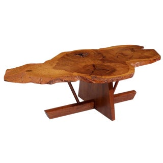 George and Mira Nakashima English Oak, Walnut and Hickory Minguren Coffee Table