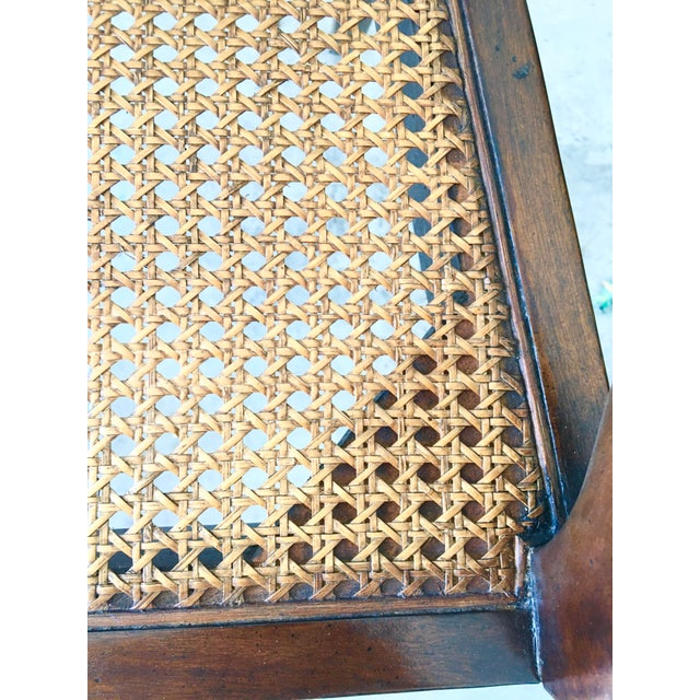 Theodore Alexander Acacia and Cane Bench For Sale - Image 11 of 13