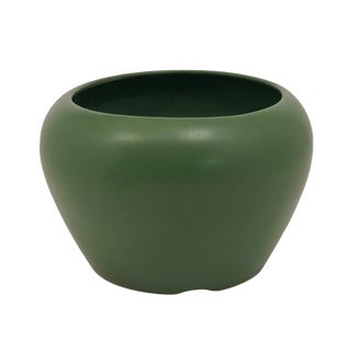 Mission Style Matte Green Vase or Planter For Sale