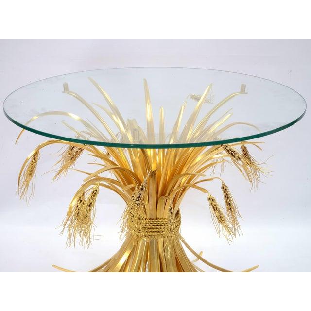 Rye Side Table in Gilded Bronze - Robert Goossens - 1970's For Sale - Image 4 of 9