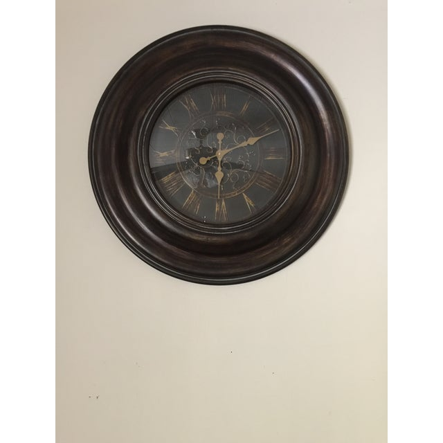 Bronze Finish Traditional Wooden Clock - Image 2 of 5