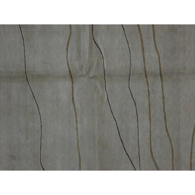 Soumak Design Hand Woven Wool Rug - 6' x 9' - Image 2 of 6