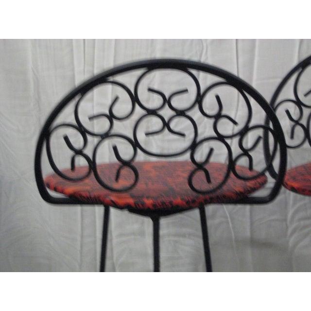 1960s Arthur Umanoff Mid-Century Iron Bar Stools - Set of 4 For Sale - Image 5 of 10