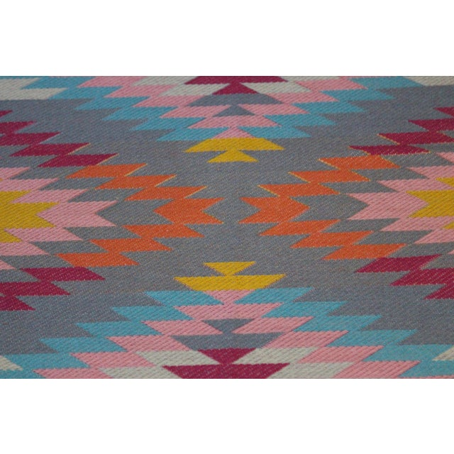 """Flat Weave Turkish Pink Wool Kilim Rug - 5'3"""" X 7'6"""" For Sale In Chicago - Image 6 of 8"""